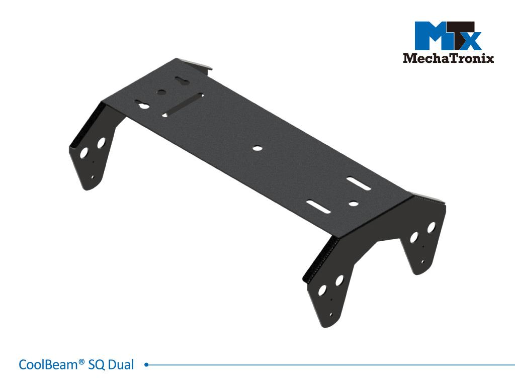 Mechatronix COOLBEAM® SQ DUAL BRACKETS Mounting bracket for dual CoolBeam® SQ4-01 for industrial flood lights, high mast or high bay designs up to 50,000 lumen; W240mmxL418mmxH125mm; Black electro-coa