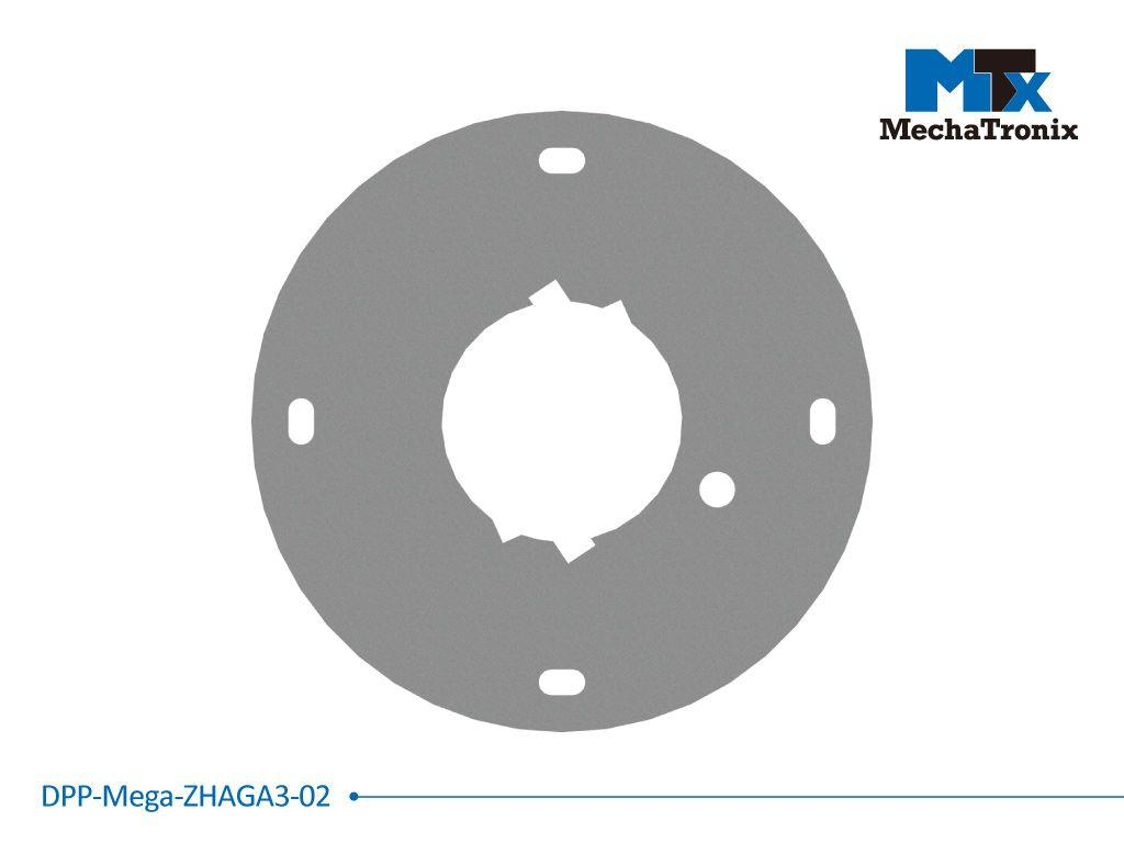 Mechatronix DPP-MEGA-ZHAGA3-02 Dust protection plate for use with any Zhaga book 3 LED module mounted on the ModuLED Mega LED Cooler; Cable hole position for Mean Well HBG-100 LED driver