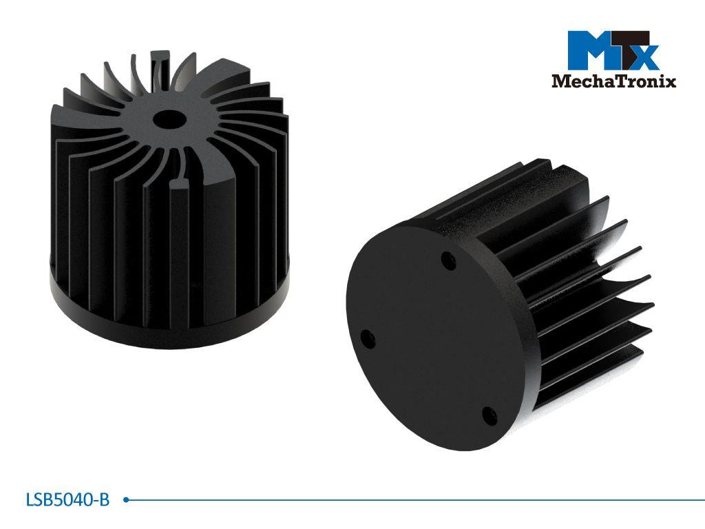 Mechatronix LSB5040-B LED Star Cooler for spot and downlights from 750-1,500 lm; ø50mmxH40mm; Rth 6.5°C/W; Black Anodized