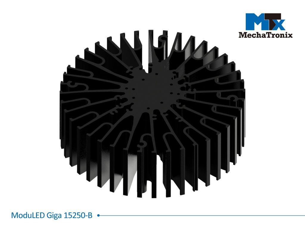 Mechatronix MODULED GIGA 15250-B Modular LED Star Cooler for low and high bay designs from 6,800-13,500 lm; ø152mmxH50mm; Rth 0.7°C/W; Mounting holes for Zhaga book 3 LED module & 27 mounting holes fo