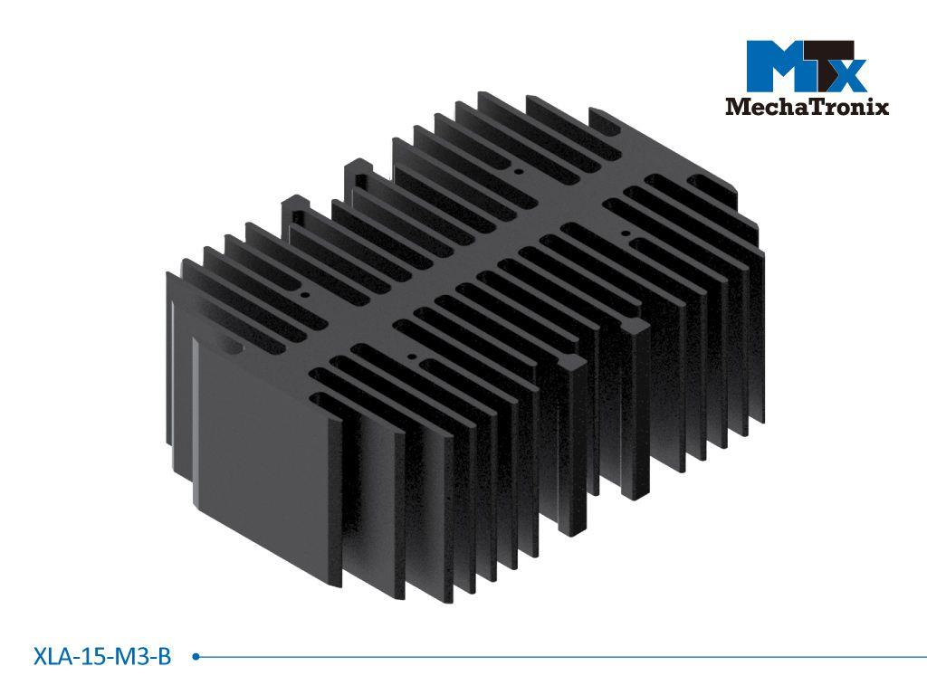 MechaTronix LED rectangular Cooler only for XLM LED module; W101mm x L140mm x H50mm; Black Anodized
