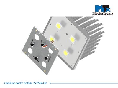 Mechatronix COOLCONNECT® HOLDER 2X2MX-02 LED holder for 2x2MX platform with COB 13.5x13.5mm Pre-wired 200mm