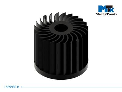 Mechatronix LSB9980-B LED Star Cooler for spot and downlights from 2,900-5,800 lm; ø90mmxH80mm; Rth 1.66°C/W; Black Anodized