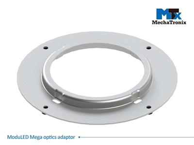 Mechatronix MODULED MEGA OPTICS ADAPTOR Adaptor plate for assembly of CoolBay® lenses and reflectors on ModuLED Mega series LED Coolers