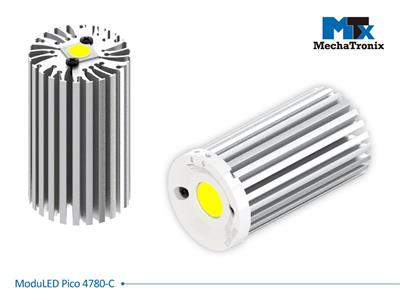 Mechatronix MODULED PICO 4780-C Modular LED Star Cooler for spot and downlights from 1,200-2,300 lm; ø47mmxH80mm; Rth 4.2°C/W; Mounting holes for Zhaga book 3, 11 LED modules & 20 mounting holes for a