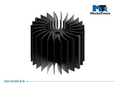 Mechatronix XSA-54-M3-B-N LED Star Cooler for Xicato XSM, XIM, XTM LED module; Cooling performance 4,800-9,600 lm; ø120mmxH87mm; Rth 1.0°C/W; Black Anodized